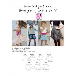Every Day Skirts size 80-164, PapirMønster