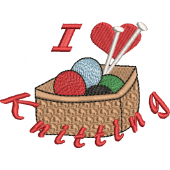 I Love Knitting (Broderifil)