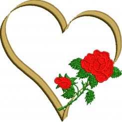 Golden Heart n Rose (Broderifil)